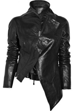 missing-light:   Aminaka Wilmont - Asymmetric leather jacket