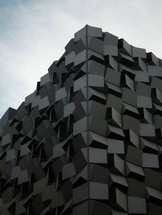 facades architecture skin organic architecture solar shading envelop modern architecture facade panels cladding black and white                                                                                                                                                                                 Más