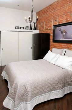 Brick Feature Wall, Espresso Kitchen, Radiant Heat, Bedroom Loft, Lofts, Toronto, The Neighbourhood, The Unit, Number