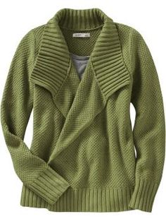 old navy draped sweater Big Comfy Sweaters, Cute Sweaters, Shawl Collar Cardigan, Sweater Jacket, Green Cardigan, Chunky Cardigan, Sweater Weather, Long Sleeve Tops, Style Me