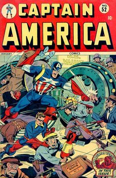 Captain America Comics # 52 by Alex Schomburg