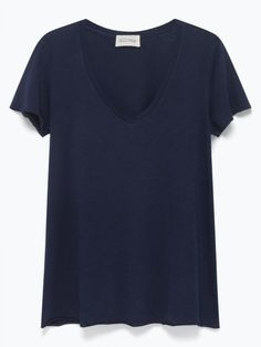 American Vintage Navy Jac 51 V Neck Tee: Fab short sleeved t-shirt, perfect to layer or wear on it's own. Comes in an array of colous.