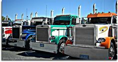 Tricked Out Semi Trucks | Big Rig Show Trucks: The Pride of the Trucking Industry