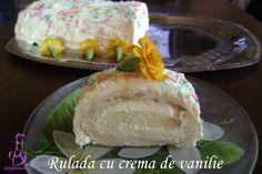Rulada cu crema de vanilie