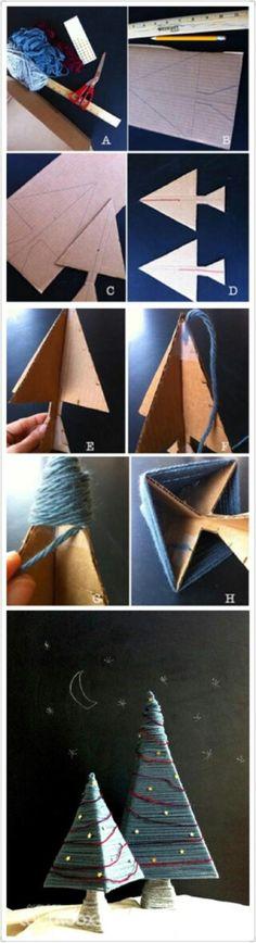 不用的纸壳可以做哒,而且我又想到一个用途,可以当饰品展示树,挂耳环耳坠肯定超级棒O(∩_∩)O