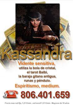 #VidenteSensitiva la Gran #Kassandra con su #boladeCristal y el #TarotBalbi realizará una videncia absoluta de tu presente pasado y futuro