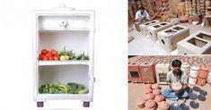 Un refrigerador que funciona sin electricidad