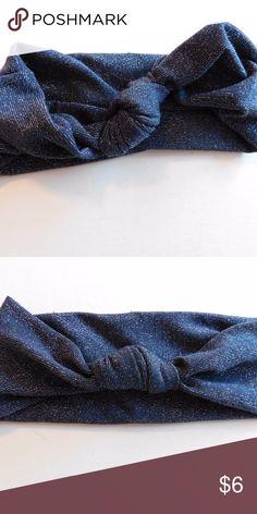 Silver & Blue Headband Silver & Blue twist knot headband Accessories Hair Accessories