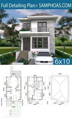 3 Bedrooms Small Home Design Plan - SamPhoas Plan - 3 Bedrooms Small Home Design Plan – SamPhoas Plansearch - {hashtag} Sims House Plans, House Layout Plans, Dream House Plans, Modern House Plans, House Layouts, Small House Plans, House Floor Plans, Bungalow House Design, Small House Design