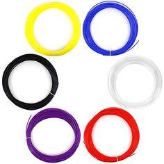 AFUNTA 6PCS 1.75MM 20M / 50G / PCS ABS 3D Print Filament For 3D Printer Pen - Red, Purple, Blue, Black, White, Yellow colour