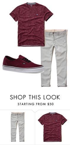 """Boys C 7"" by tobyla on Polyvore featuring Hollister Co., Vans, mens, men, men's wear, mens wear, male, mens clothing, mens fashion and vans"