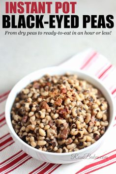 Instant Pot Black-Eyed Peas. These peas are so easy and there's no risk of scorching or under-cooking. Just pour it all in, set it and let it go!