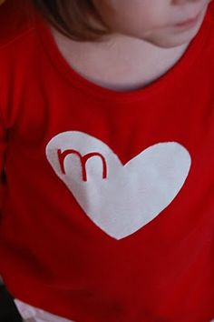 diy - heart t-shirts for the kids for valentine's day