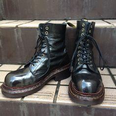 ドクターマーチン10ホールブーツのカスタムシューズです。 SAVOIA 003:Dr.martens BUHI Custom shoes