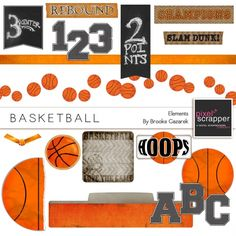 Basketball Elements Kit by Brooke Gazarek | Pixel Scrapper digital scrapbooking