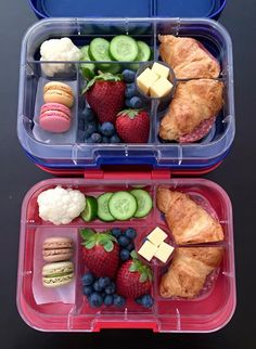 Healthy Lunches For Kids, Lunch Snacks, Easy Snacks, Kids Meals, Healthy Snacks, Healthy Recipes, Lunch Meal Prep, Healthy Meal Prep, Boite A Lunch