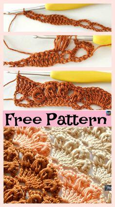 Crochet Shell Stitch Tutorial – Free Pattern #freecrochetpattern #shellstitch