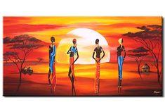 Tableau sur toile Beauté sous le soleil d'Afrique