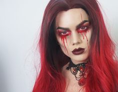 HALLOWEENMAKEUP | LADY IN RED