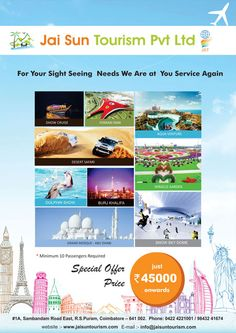 High End Brochure Design for Jai Son Tourism by 123Coimbatore => http://www.webdesign.123coimbatore.com/brochures.php