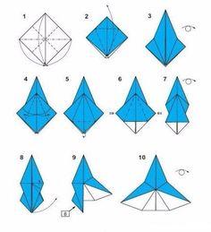 Origami Engel - Faltanleitung-dekoking-com-3
