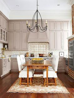 Kitchen Islands with Seating.  Love this kitchen.