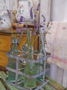 Chateau Chic: Lavender in French bottles