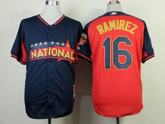 WHOLESALE CHEAP 2014 MLB NATIONAL ALL STAR BREWERS #16 RAMIREZ BLUE JERSEY PURCHASE