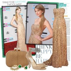 Best red carpet ever ---> Taylor Swift in Reem Acra, created by cri87 on Polyvore