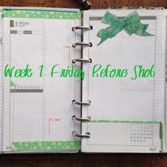 Week 1 Friday Before Shot #filofax #daytimer #franklin covey #diyfish #lifemapping #planner #organization