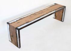 Красивая деревянная скамья Bent Bench от alcarol