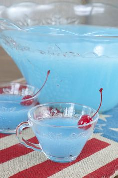 Blue Piña Colada Party Punch | Wishes and Dishes