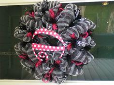 Deco Mesh Wreath. Made by @ Deco Galore Wreath