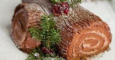"""I remember years ago when I was just a wee little girl and it was nearing Christmas time and my mom would be in the kitchen night after night preparing all her baking for the """"Big Day&… Christmas Yule Log, Christmas Sweets, Christmas Cooking, Christmas Goodies, Yule Log Cake, Greek Sweets, Xmas Food, Cake Flavors, Holiday Recipes"""