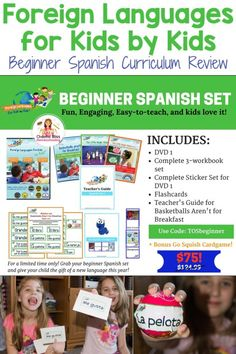 Foreign Languages for kids by kids spanish curriculum review