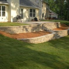 Terraced Retaining Walls w/ Steps - Yelp