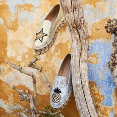 91998d657f Upgrade your bohemian look with  MIGATO NY054 gold espadrille with star ▻  bit.ly