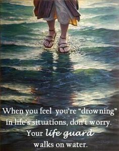 Oh how true! We all need this reminder from time to time... Lifeguard, Don't Worry, Inspirational Phrases, Walks, Author, Jesus Cristo, Feelings, Madonna, Movie Posters