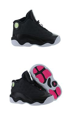8a044ad56b9e24 Baby Shoes 147285  Kids Air Jordan 13 Xiii Retro Td Hyper Pink Black  Anthracite 684802