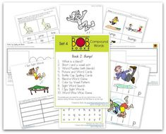 FREE BOB Book printables ~ Set 4 Book 2- Bump!  1. What is a blend? 2. Short i and u vowel sort 3. Word Puzzles (with blends) 4. Picture and Word Cards 5. Bottle Cap Spelling Cards 6. Blend - a - Word Game 7. Color by Vowel Pattern 8. Sight Word Search 9. I Spy Sight Words 10. Word - Wac - Woe Game