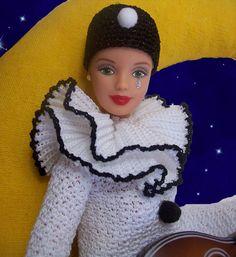 Barbie Pierrot primo piano