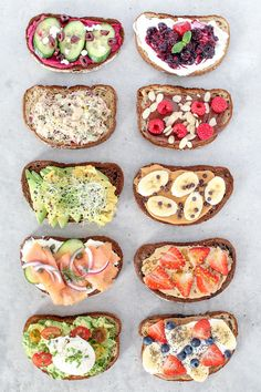 10 healthy and easy toast creations from avocado to New York style, made with simple mouthwatering ingredients, perfect for breakfast, lunch and even dinner! recipes healthy dinner easy Toast Ten Ways Quick Healthy Breakfast, Healthy Meal Prep, Healthy Eating, Dinner Healthy, Avocado Breakfast, Eating Clean, Avocado Dessert, Healthy Snacks, Breakfast Toast