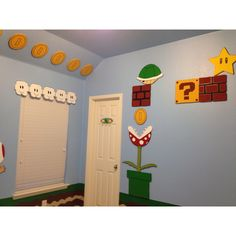 Must have once we move! Super Mario Room, Super Mario Birthday, Mario Birthday Party, Super Mario Party, Chambre Nolan, Mario E Luigi, Mario Kart, Deco Gamer, Brothers Room
