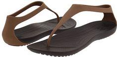 Crocs Sexi Flip Sandals - Massaging Shoe, Bronze Espresso