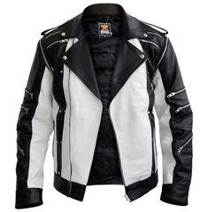 Michael Jackson White Leather Jacket-Men - Apparel - Outerwear - Jackets-Look Love Lust Best Leather Jackets, Men's Leather Jacket, Leather Skin, White Leather, Real Leather, Jacket Men, Designer Leather Jackets, Stylish Jackets, Mens Fashion