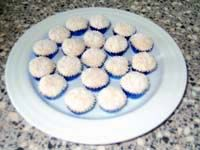 "Like ""brigadeiro"", ""docinho de coco"" or ""beijinho de coco"" is a typical Brazilian sweet, which is served at every Brazilian birthday party."