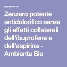 Zenzero potente antidolorifico senza gli effetti collaterali dell'ibuprofene e dell'aspirina - Ambiente Bio