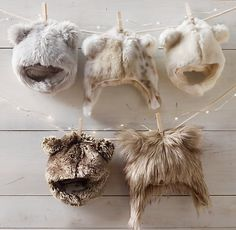Luxe Faux Fur Baby Animal Hoods, restoration hardware