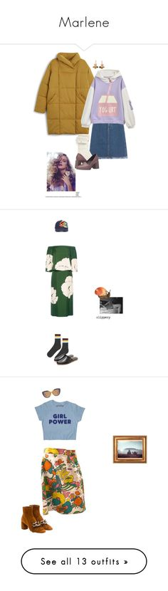 """Marlene"" by lolo-green ❤ liked on Polyvore featuring Monki, Acne Studios, UGG, Camper, Marni, StreetStyle, Daisy, yogurt, Gogirl and puffcoat"
