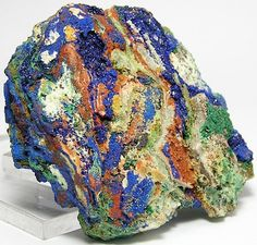 Azurite with Malachite from Mexico
